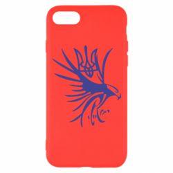 Чохол для iPhone 8 Сокіл та герб України