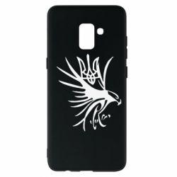Чохол для Samsung A8+ 2018 Сокіл та герб України