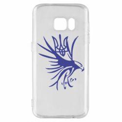 Чохол для Samsung S7 Сокіл та герб України