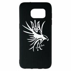 Чохол для Samsung S7 EDGE Сокіл та герб України