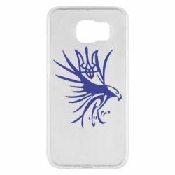 Чохол для Samsung S6 Сокіл та герб України