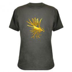 Камуфляжная футболка Сокол и герб Украины Голограмма