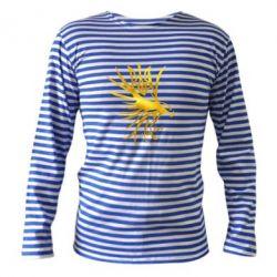 Тельняшка с длинным рукавом Сокол и герб Украины Голограмма