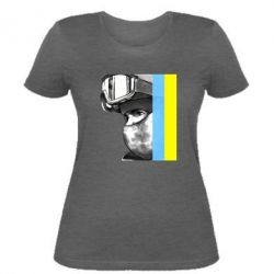 Женская футболка Солдат ато