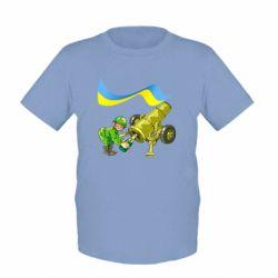 Детская футболка Солдат и шампанское