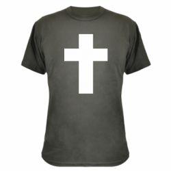 Камуфляжна футболка Solid cross