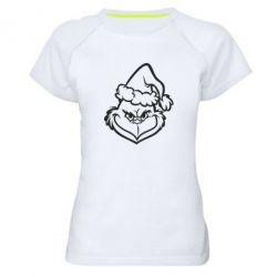 Жіноча спортивна футболка Сolor Grinch
