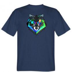 Мужская футболка Сolorful wolf - FatLine