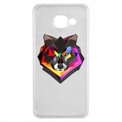 Чехол для Samsung A3 2016 Сolorful wolf