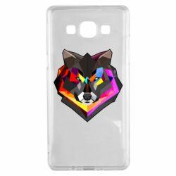 Чехол для Samsung A5 2015 Сolorful wolf