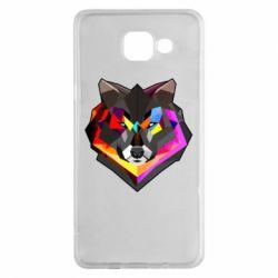 Чехол для Samsung A5 2016 Сolorful wolf