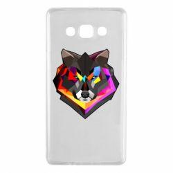 Чехол для Samsung A7 2015 Сolorful wolf