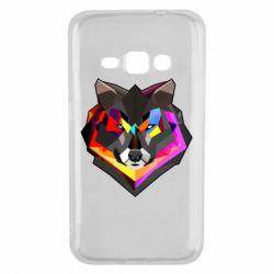 Чехол для Samsung J1 2016 Сolorful wolf