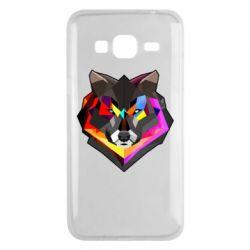 Чехол для Samsung J3 2016 Сolorful wolf