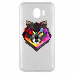 Чехол для Samsung J4 Сolorful wolf