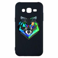 Чехол для Samsung J5 2015 Сolorful wolf