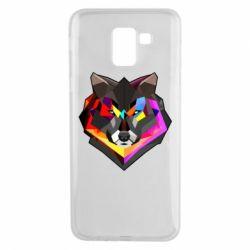 Чехол для Samsung J6 Сolorful wolf