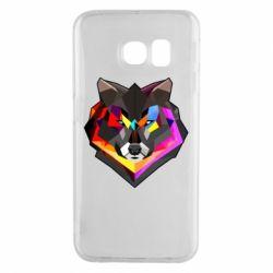 Чехол для Samsung S6 EDGE Сolorful wolf