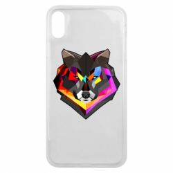 Чехол для iPhone Xs Max Сolorful wolf