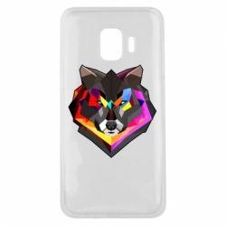 Чехол для Samsung J2 Core Сolorful wolf
