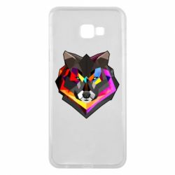 Чехол для Samsung J4 Plus 2018 Сolorful wolf