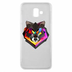 Чехол для Samsung J6 Plus 2018 Сolorful wolf