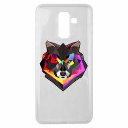 Чехол для Samsung J8 2018 Сolorful wolf