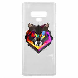 Чехол для Samsung Note 9 Сolorful wolf