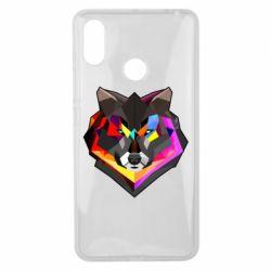 Чехол для Xiaomi Mi Max 3 Сolorful wolf