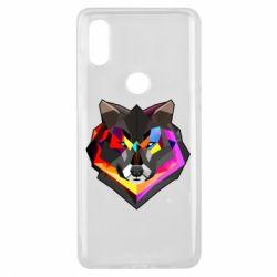 Чехол для Xiaomi Mi Mix 3 Сolorful wolf