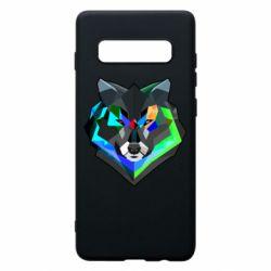 Чехол для Samsung S10+ Сolorful wolf