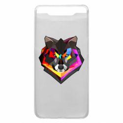 Чехол для Samsung A80 Сolorful wolf