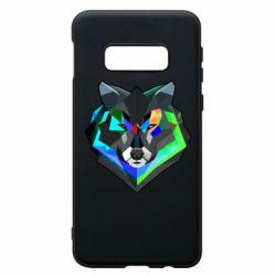 Чехол для Samsung S10e Сolorful wolf