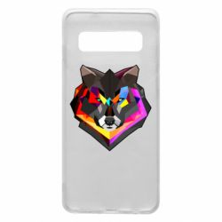 Чехол для Samsung S10 Сolorful wolf