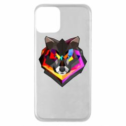 Чехол для iPhone 11 Сolorful wolf