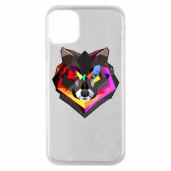 Чехол для iPhone 11 Pro Сolorful wolf