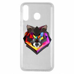 Чехол для Samsung M30 Сolorful wolf