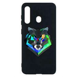 Чехол для Samsung M40 Сolorful wolf