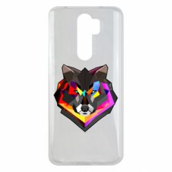Чехол для Xiaomi Redmi Note 8 Pro Сolorful wolf