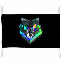 Флаг Сolorful wolf