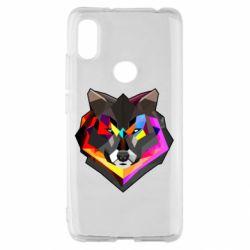 Чехол для Xiaomi Redmi S2 Сolorful wolf
