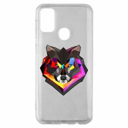 Чехол для Samsung M30s Сolorful wolf