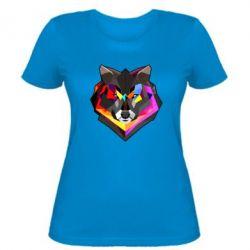Женская футболка Сolorful wolf - FatLine