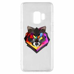Чехол для Samsung S9 Сolorful wolf