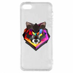 Чехол для iPhone5/5S/SE Сolorful wolf