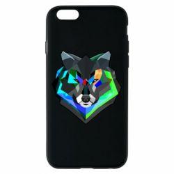 Чехол для iPhone 6/6S Сolorful wolf