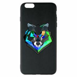 Чехол для iPhone 6 Plus/6S Plus Сolorful wolf