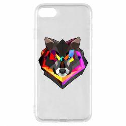Чехол для iPhone 7 Сolorful wolf