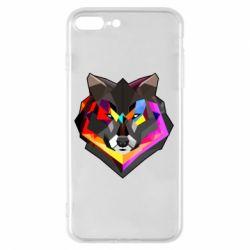 Чехол для iPhone 8 Plus Сolorful wolf