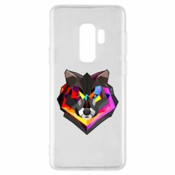 Чехол для Samsung S9+ Сolorful wolf